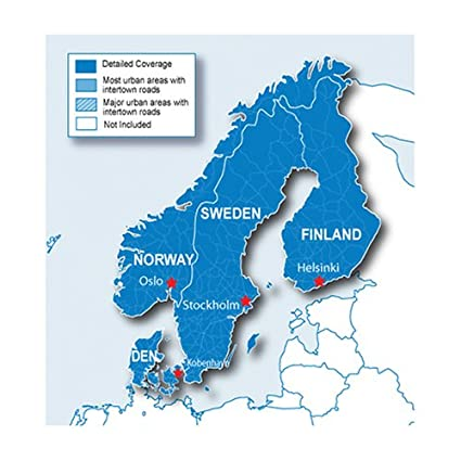 Amazoncom Garmin City Navigator Nordics For Detailed Maps Of - Michelin norway map 752