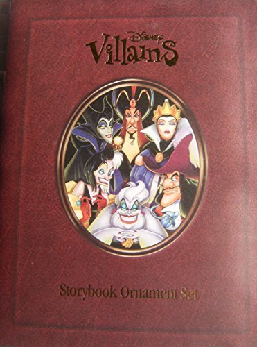Disney Villains Storybook Ornaments Set of