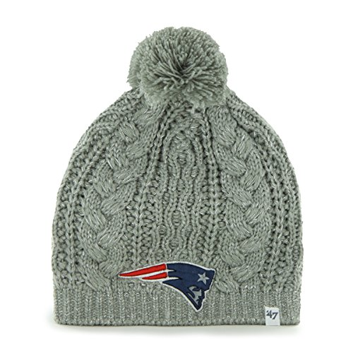 NFL New England Patriots Women's Kiowa Beanie Knit Hat, One Size, Gray
