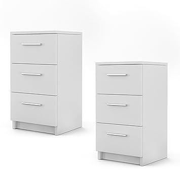 Schön OSKAR Nachtschrank Nachttisch Kommode Schrank Schlafzimmer Schublade Ablage  Sonoma (Weiß)