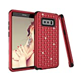zizo bolt for note edge - Galaxy Note 8 Case,UZER 3in1 Shockproof Luxury Glitter Sparkle 3D Bling Hard PC Soft Silicone Combo Hybrid Impact Defender Full-Body Protective Case Cover for Samsung Galaxy Note 8 2017 Release
