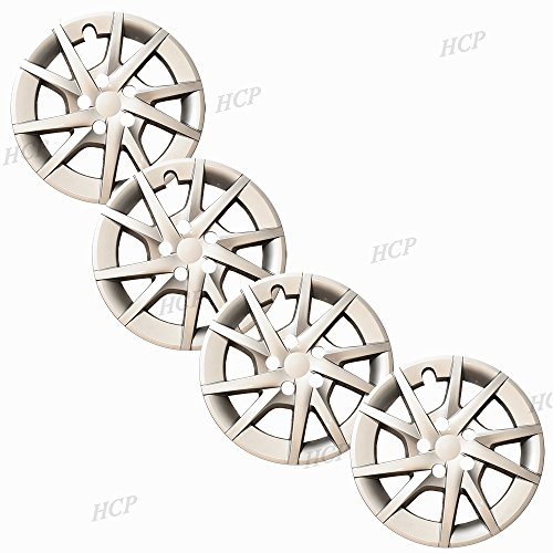 16 Inch; 10 Spoke; Silver Color; Plastic; Set Of 4; Push On MARROW New Wheel Covers Replacements Fits 2012-2017 Toyota Prius V
