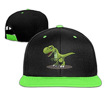 Kids T-Rex Cartoon Dinosaurs Falt Hat Snapback Baseball Cap from HAT FENG