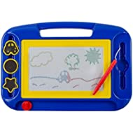 [Sponsored]Magnetic Doodle Drawing Board For Kids Colorful Sketching Erasable Pad With 3 Magnet...