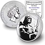 2020 1 oz Silver Star Wars Darth Vader Coin Brilliant Uncirculated with Certificate of Authenticity by CoinFol