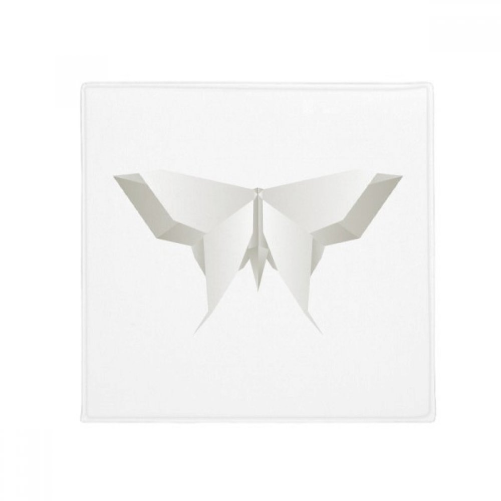 DIYthinker White Origami Abstract Butterfly Pattern Anti-Slip Floor Pet Mat Square Home Kitchen Door 80Cm Gift