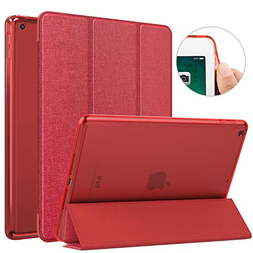 (MoKo Case Fit 2018/2017 iPad 9.7 6th/5th Generation, Slim Lightweight Smart Shell Stand Cover with Auto Wake/Sleep, Translucent Frosted Back, Corner/Bumper Protector Fit Apple iPad 9.7