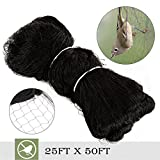 "Superworthboutique 25'x50' Anti Bird Garden Netting Bird Netting For Fruit Trees Aviary Poultry Net Nylon 2"" Square Mesh"