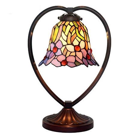 WXAN Tiffany Estilo Lámpara de Mesa de la Vendimia del Estilo del ...