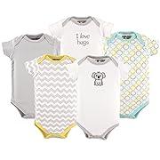 Luvable Friends Baby Infant Cotton Bodysuits, Koala 5Pk, 6-9 Months