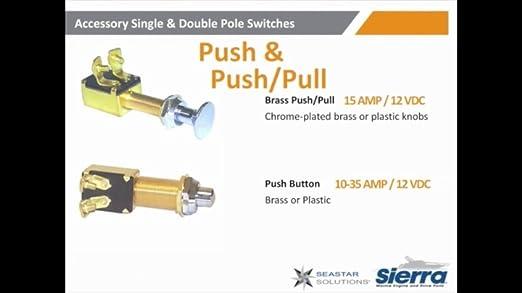 Sierra International MP39320 Brass Push Button Switch