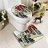 Bathroom Non-Slip Floor Mat A vector illustration of movie production scene with High Absorbency
