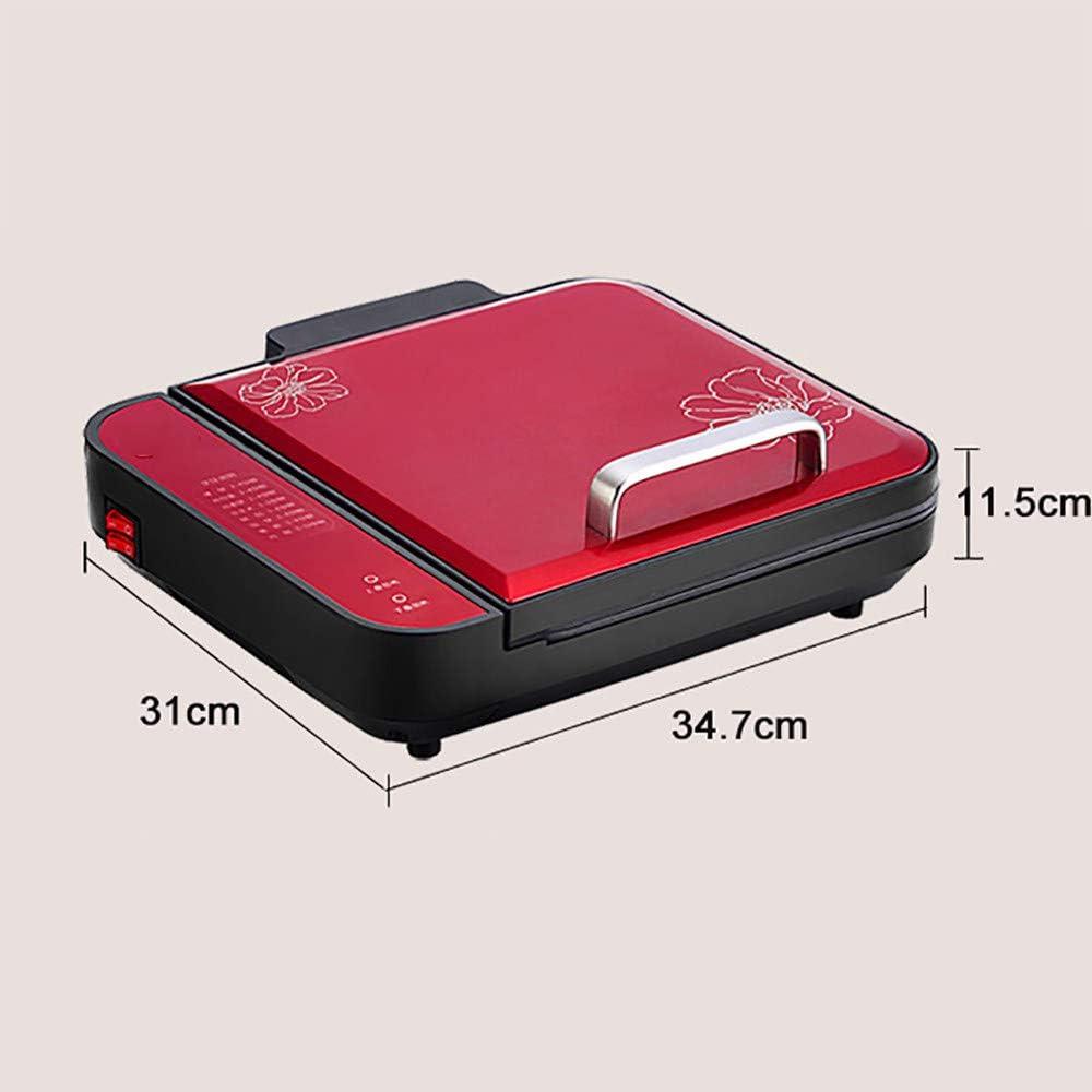 PoêLe Double Face Chauffante Multifonction Ultra-Mince, DéPliable à 180 Ou 90 DegréS, ContrôLe Automatique De La TempéRature, éConomie De Carburant,Gold Red