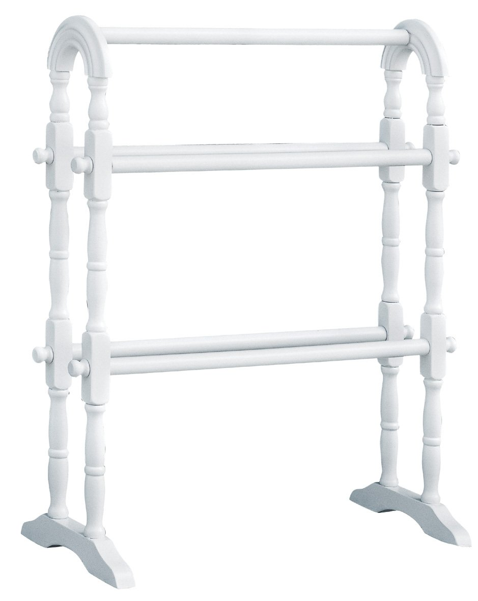 White Wooden Towel Rack Cosmecol