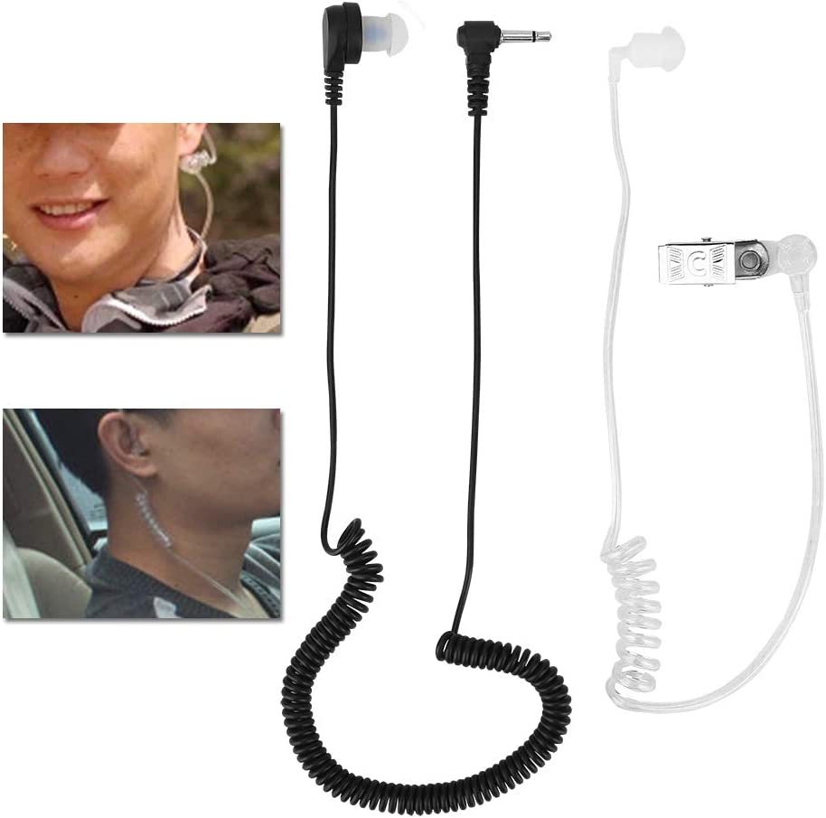 MP3 3.5mm Mono Listen Only Transparent Acoustic Tube Earpiece Headset Anti-Radiation for Radio//iPod//iPod Nano Cellphone//CD//FM Radio//AM Radio with a Replacement Ear Bud
