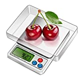 WIOR 0.0001oz/0.01g 600g High Precision Digital Pocket Scale Portable Multipurpose Scale with Back-Lit LCD Display & Removable Transparent Tray for Jewelry / Ingredients / Kitchen (Batteries Included)