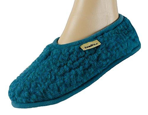 SamWo Ballerinas Parent, Pantofole donna, blu (nero), 41/42 EU
