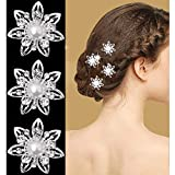 Yantu 12 Pcs Women Flower Hair Pin Crystal Hair