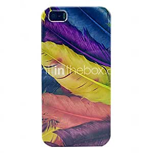 Feather Design Hard Back Case for iPhone 5/5S