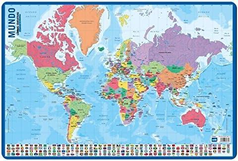 Grupo Erik Editores Lamina Educativa Mapa Del Mundo: Amazon.es: Oficina y papelería