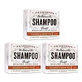 J.R. Liggett Bar Shampoo, Virgin Coconut Aragan Oil, 3.5 Ounce (3 Pack)