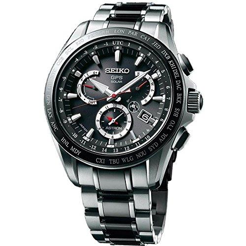 Seiko Mens Astron Gps Titanium Solar Dual Time Watch
