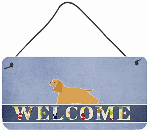 Caroline's Treasures BB5490DS812 Cocker Spaniel Welcome Metal Print, 8 x 12, Multicolor