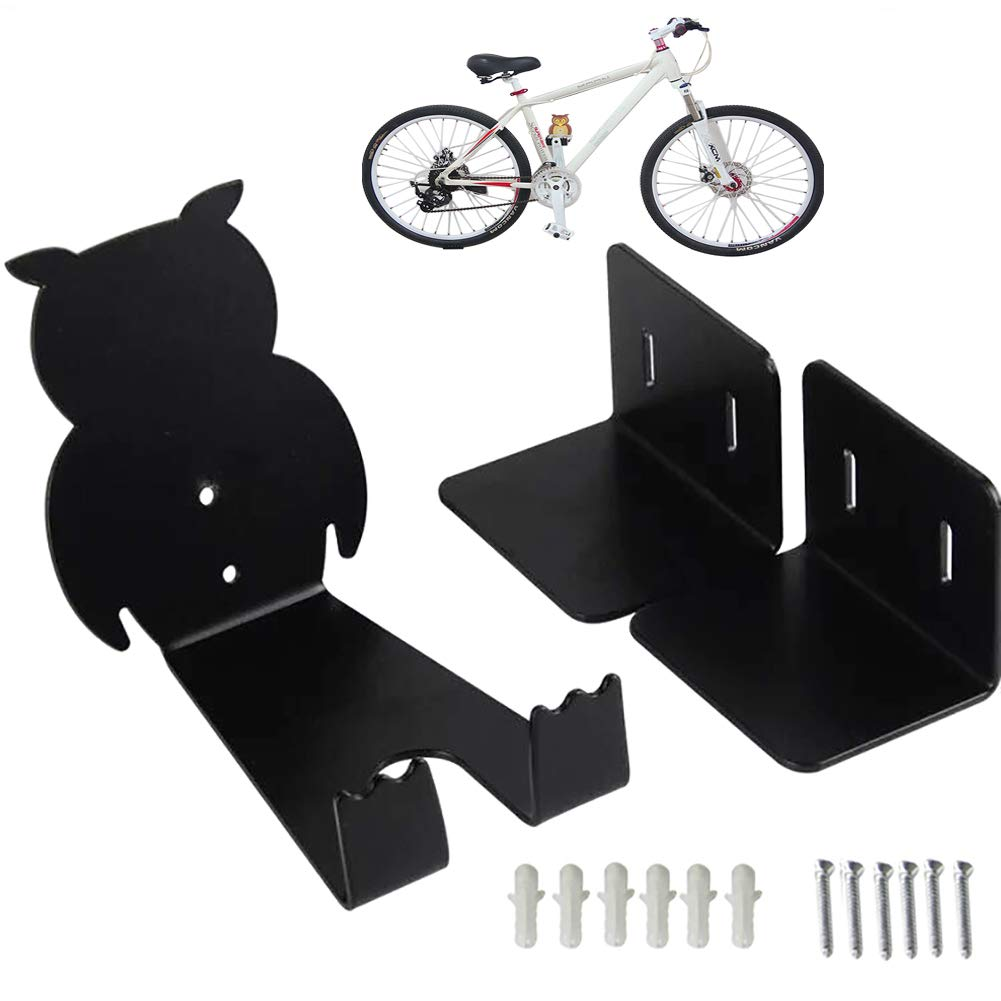 Searmyfc 自転車ラックハンガー 壁掛けホルダー 自転車収納 ガレージフック 自転車ペダル壁マウント 屋内の物置に 簡単に掛けたり外したりできます - 最大133ポンドまで耐える高耐久   B07PXZMN29