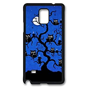 Owls Custom Back Phone Case for Samsung Galaxy Note 4 PC Material Black -1210021 WANGJING JINDA