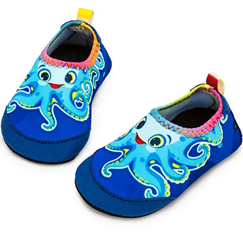 - Apolter Baby Boys and Girls Swim Water Shoes Barefoot Aqua Socks Non-Slip for Beach Pool