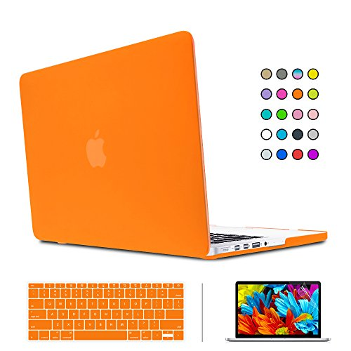 "SUNKY MacBook Newest Pro 15 Case, Soft-Touch Series Plastic Hard Case Cover + Keyboard Skin + HD Screen Protector for Macbook Pro 15-inch 15"" 2016 Release with Touch Bar and Touch ID - Orange -  MACCASE218"