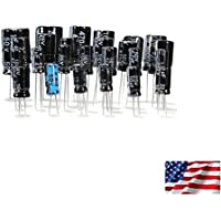Radial Electrolytic Capacitors 100 Pack, 5 each 20 values Kit/Assortment/Mix US