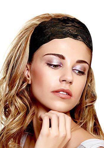 ShariRose Black Floral Lace Headband Handmade (Everyday Black)
