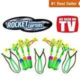 Toys : As Seen On TV' Rocket Copters by Idea Village - The Amazing Slingshot LED Helicopters (Packaging May Vary)