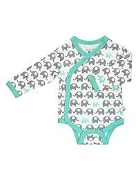 Babysoy Baby Boys' Organic Kimono Bodysuit (Baby) - Whale