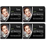 Ionic MSM Combo Pack Of 4 Charcoal Diamond Skin Whitening Soap, 75 Grams Each