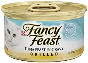 Purina Fancy Feast Grilled Gourmet Wet Cat Food- 24-3 oz. Cans