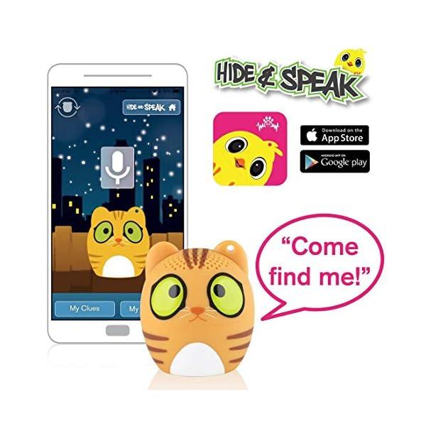 TBS2520 Mini Enceinte Bluetooth sans Fil Mini-Animal Chat - Super Mignon - 3 Watts - Fonctions Kit Main-Libre téléphone & Selfie - Appli pour Jouer - pour iPhone Samsung Huawei etc & Tablette 3