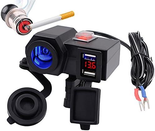JVSISM 充電器+デジタル5V 4.2Aデュアル充電器シガレットライターUSB車のアダプター12Vオートバイ用オート多機能