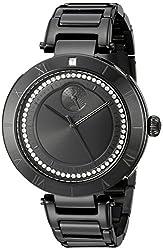 Vestal Women's RSE3M003 The Rose Analog Display Quartz Black Watch