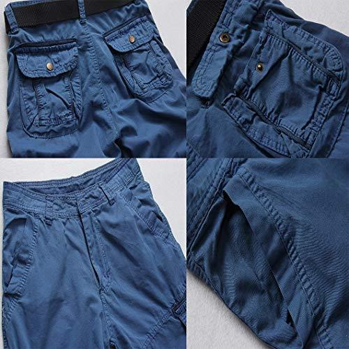 Coupe Facile Pour Régulière Cargo Poches Hommes Short Bermuda Mode Court Avec Pantalon 4 Blau Loisirs 3 Basic Chic 14qFx