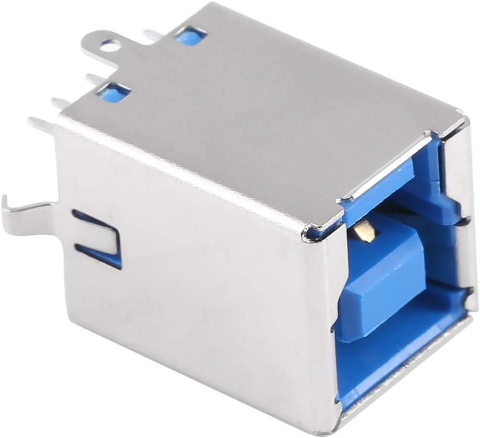 HEGWEI 50 PCS USB 3.0 BF Type 90 Degrees DIP Bent Feet for Printer Inference