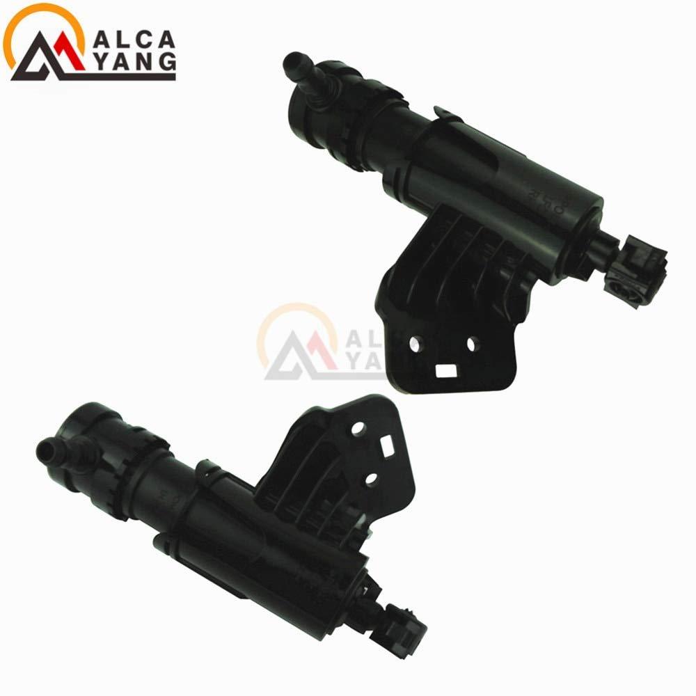 Mathenia Car Parts, Headlamp washer Nozzle 98671-C3000 LH& 98672-C3000 RH FOR Hyunda Sonata 9 Front headlight washer - (Color: Left) by Mathenia