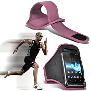 Alcatel One Touch M Pop Universal Sports brazaletes Running Bike Cubierta Ciclismo Gimnasio Sendero Librar Arm Band Case (rosa claro) Por Fone-Case