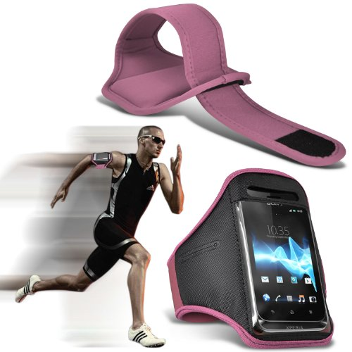 - ( Light Pink ) Blackberry Pearl 3G 9105 Sports Running Jogging Ridding Bike Cycling Gym Arm Band Case Pouch Cover By ONX3®