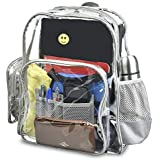 c396182d576f Planet Made Family Premium Extra Large + Heavy Duty Clear Backpack    Transparent Bookbag- Perfect