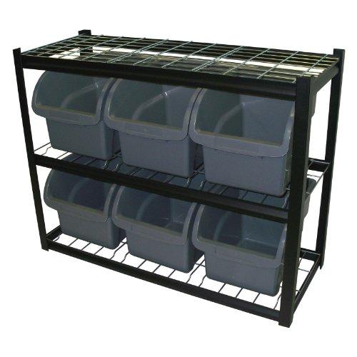 Edsal 6-Bin Shelf Unit, Model# (Edsal Multiple Bin)