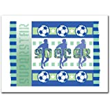 Trademark Fine Art Soccer by Grace Riley Canvas Wall Art, 18x24-Inch