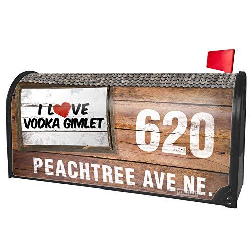NEONBLOND Custom Mailbox Cover I Love Vodka Gimlet Cocktail]()