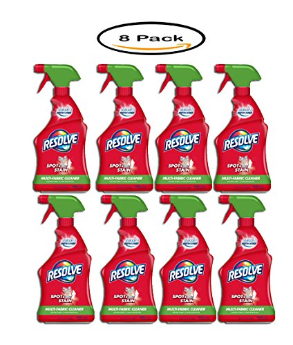 Pack of 8 - Resolve Upholstery Cleaner & Stain Remover, 22 fl oz Bottle, Multi-Fabric Cleaner